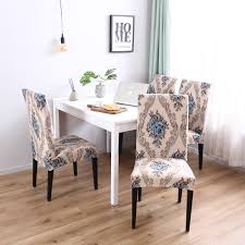 Pattern Soft Elegant Spandex Fabric Stretch Box Cushion Dining Chair  Slipcover