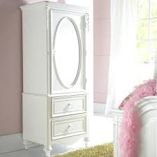 White Mirrored Jewelry Cabinet Armoire Canada by Armoire White Mirrored Armoire Chateau Beau Decor French Shabby