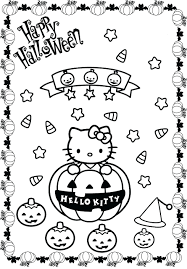 Hello Kitty Christmas Coloring Pages Free Pumpkin Pdf Full Size