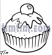 Free drawing of Cupcake BW from the category Cooking Food & Drink TimTim
