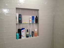 4x12 Subway Tile Spacing by Shower Niche With Tempered Glass Shelf Marazzi Middleton Square