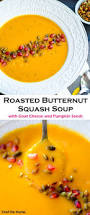 Pumpkin Butternut Squash Soup by Roasted Butternut Squash Soup With Goat Cheese Recipe Chefdehome Com