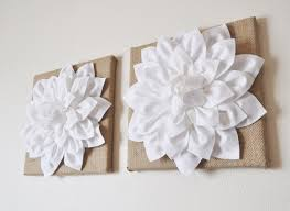 Housewarming Gift Wall Art Rustic Home Decor TWO Flowers