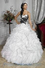 buy tailor made flowers trimmed organza ruffles black and white