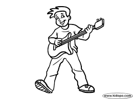Free Play Guitar Printable And Online Coloring Page