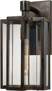 elk 45145 1 modern hazelnut bronze exterior wall sconce