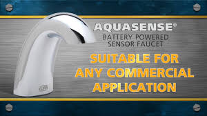 Zurn Sensor Faucet Aerator by Featured Product Zurn U0027s Aquasense Faucet Youtube