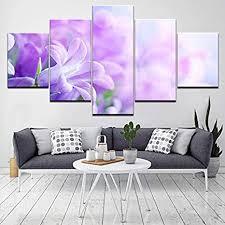 ytdz 5 teiliger kunstdruck auf leinwand lila blütenpflanze