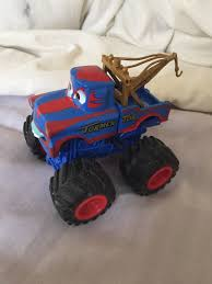 100 Mater Monster Truck DISNEY PIXAR CARS Tormentor Wrestler Toon Rare 1