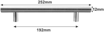 hengda 20 stück möbelgriffe lochabstand 256mm schrankgriffe