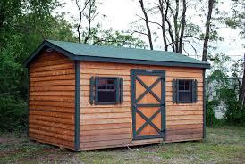 10x20 Metal Storage Shed by Cedar U0026 Split Log Storage Sheds Leonard Buildings U0026 Truck