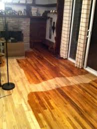 Laminate Flooring Bubbles Due To Water by How To Stain A Hardwood Floor In 5 Steps Dengarden