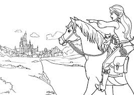 Barbie Three Musketeers Going To Town Coloring Pages