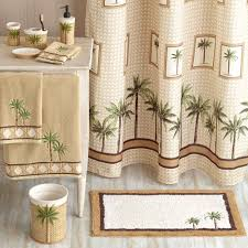 Bathroom Rug And Towel Sets by Better Homes And Gardens Palm Shower Curtain Walmart Com