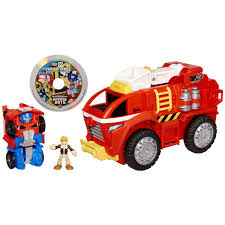 100 Rescue Bots Fire Truck Mobile Headquarters With Optimus Prime And Cody Burns Transformers
