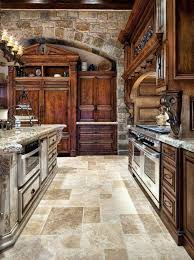 Tuscan Kitchen Style With Marble Countertop