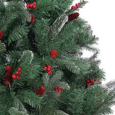 Ebay Christmas Trees 6ft by Naturally Decorated Elegant Christmas Tree Frosted Tips Red Pine