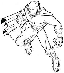 Unique Black Panther Coloring Sheet Design