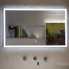 badezimmerspiegel badspiegel mit led beleuchtung touch schalter 80 x 60 cm