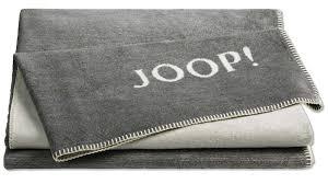 joop wohndecke melange doubleface graphit ecru ca 150 x 200 cm