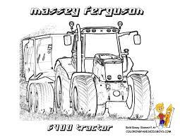 Coloriage De Tracteur Massey Ferguson A Imprimer