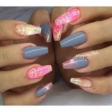 Gray And Pink Nail Art Gallery
