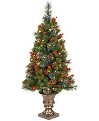 National Tree Company 4 Crestwood Spruce Entrance With 100 Clear Lights