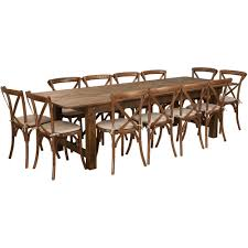HERCULES Series 9' X 40'' Antique Rustic Folding Farm Table Set With 12  Cross Back Chairs And Cushions Plantex Space Saver Teakwood Folding Chair Table Setwooden Stakmore Traditional Expanding Fruitwood Frame Flash Fniture Hercules 8 X 40 Wood Set 6 Chairs 47 Patio And Folding Chair Foldable Solid Basil Wooden King Teak 4 Piece Golden 1 Garden Shop Homeworks Online In Wow Incredible Luan 18x72 Ft Seminar Vinyl Edging Boltthru Top Locking Steel Mannagum Pnic With Seats