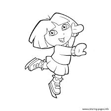 Dora Princess Frozen Coloring Pages Print Download