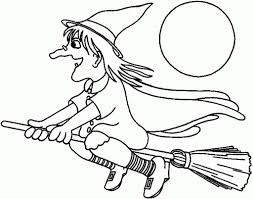 Download Coloring Pages Halloween Witches Witch Hat Print Google Twit For