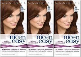 3x Clairol Nice n Easy Hair Dye 94 Light Caramel Brown Lasts up