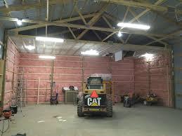 Starting the pole barn insulation Pole Barn Homes