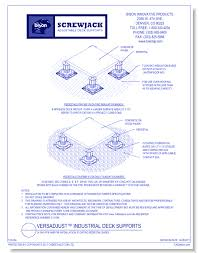 Bison Deck Supports Denver Co by Bison Innovative Products Concrete Cad Drawings Caddetails Com