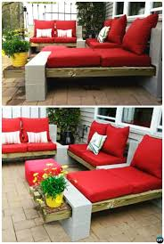 DIY Outdoor Cinder Block Lounge 10 Concrete Furniture Projects