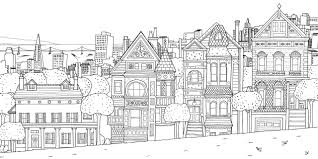 City Scene Coloring Best Pages Page And Of