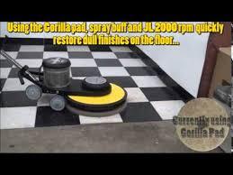 jl 2000 rpm high speed burnisher buffer demonstration youtube