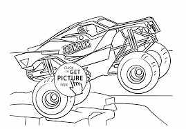 Monster Truck Iron Man Coloring Page For Kids, Transportation ...