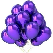 SECRET Polyvore Party balloons colored purple Beautiful birthday celebration decoration Joyful emotions concept