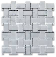 12 x12 carrara white basketweave mosaic carrara white dots