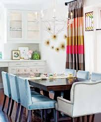 White Kitchen Decorating With Accents In Blue And Pink Colors