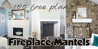 fireplace mantel plans over 70 free plans planspin com