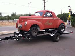 Hot Rods 2 wheel gasser trailers pics plans