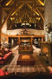 Fancy Interior Design Ideas Using Lodge Decoration Fascinating Living Room With Visible Wood