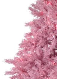 5 Pre Lit Clear Artificial X Mas Tree In Pink 5ft