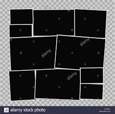 Photo Frames Album Composition On Transparent Background Vector Design Template