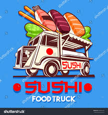 Food Truck Logotype Japanese Sushi Sashimi Stock Vector (Royalty ...