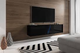 tv unterteil hochglanz schwarz lack hängend oder stehend