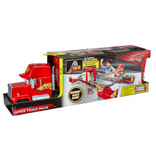 Disney/Pixar Cars Super Track Mack Playset 2-in-1 Transforming Truck ...