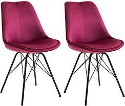idimex esszimmerstuhl everest modern und zeitlos küchenstuhl essstuhl polsterstuhl stühle esszimmer esstisch samtstoffbezug in rot