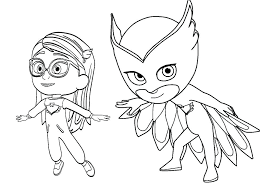 Masks Coloring Pages Page Colouring Printable Pj Mask Games Online
